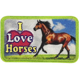 S-5123 I Love Horses Patch