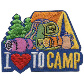 S-5245 I Love To Camp Patch