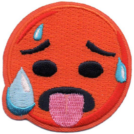 S-5292 Emoji - Hot Face Patch