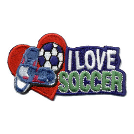 S-0495 I Love Soccer Patch