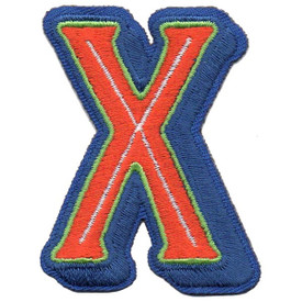 S-5448 Letter X Patch