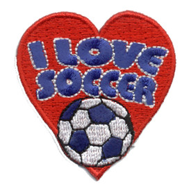 S-0498 I Love Soccer Patch