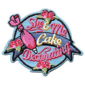 S-5502 She & Me Cake Decorating Patch