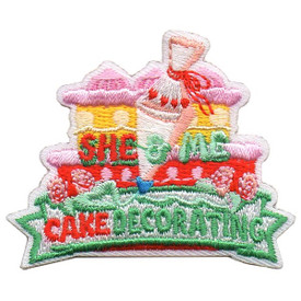 S-5507 She & Me Cake Decorating Patch