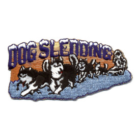 S-0505 Dog Sledding Patch