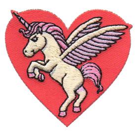 S-5704 Unicorn Heart Patch