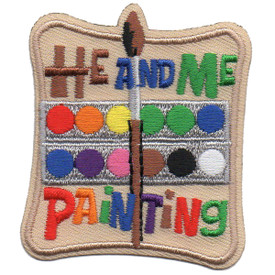 S-5788 He and Me Painting Patch