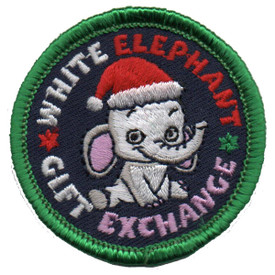S-5807 White Elephant Gift Patch