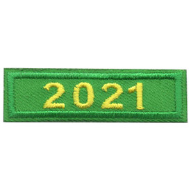 S-5864 2021 Green Year Bar Patch