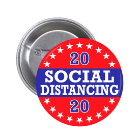 S-5917 2020 Social Distancing Button