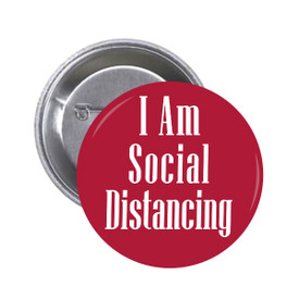 S-5918 I Am Social Distancing Button