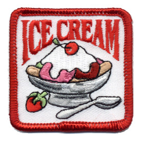 S-0570 Ice Cream  (Sundae) Patch
