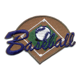 S-0572 Baseball - Ball & Field Patch