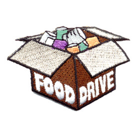 S-0575 Food Drive - Box Of Food Patch