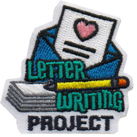 S-6060 Letter Writing Project Patch