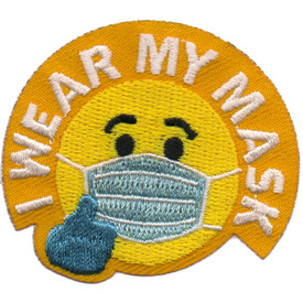 S-6085 I Wear My Mask Patch