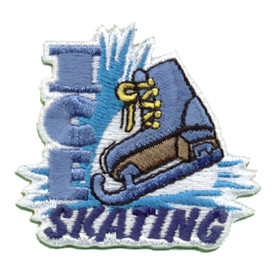 S-0601 Ice Skating (Blue Skate) Patch