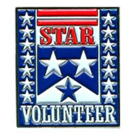 P-0110 Star Volunteer Pin