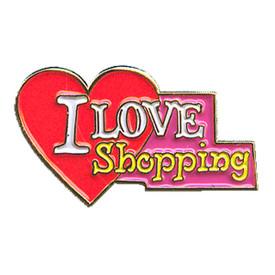 P-0148 I Love Shopping Pin