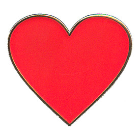 P-0155 Red Heart Pin