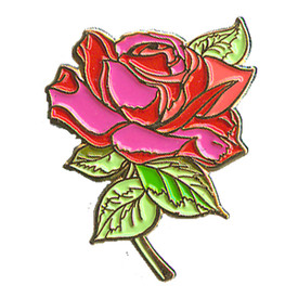 P-0162 Rose (Red With Stem) Pin
