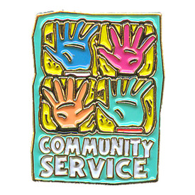 P-0167 Community Service (Hands) Pin