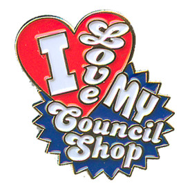 P-0168 I Love My Council Shop Pin