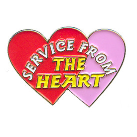 P-0170 Service From  Heart Pin