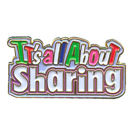 P-0173 It's All About Sharing Pin