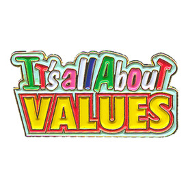 P-0175 It's All About Values Pin
