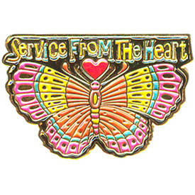P-0177 Service From The Heart Pin