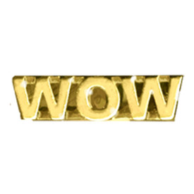 P-0198 Wow - Text Pin