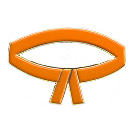 P-0207 Orange Belt Pin