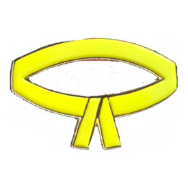 P-0208 Yellow Belt Pin