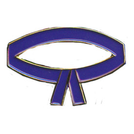 P-0211 Purple Belt Pin