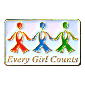 P-0217 Every Girl Counts Pin