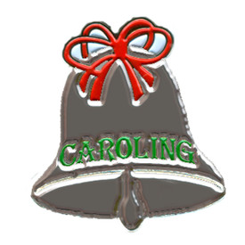 P-0253 Caroling Bell (Silver) Pin