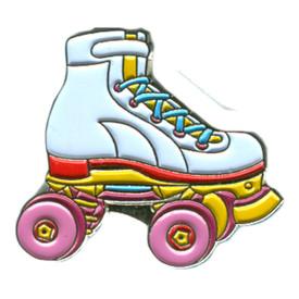 P-0258 Roller Skate (White) Pin