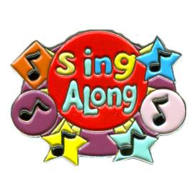 P-0259 Sing A Long (Music Notes) Pin