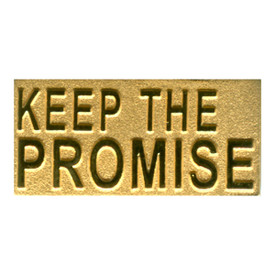 P-0264 Keep The Promise (Gold) Pin