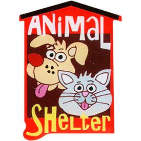 P-0265 Animal Shelter Pin