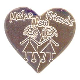 P-0284 Make New Friends Pin