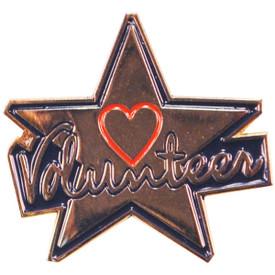 P-0288 Volunteer (Star & Heart) Pin
