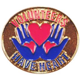 P-0292 Volunteers Have Heart Pin