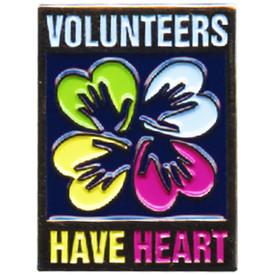 P-0301 Volunteers Have Heart Pin