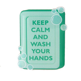 P-0362 Keep Calm -Wash Your Hands Pin