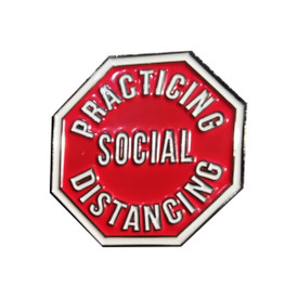P-0364 Practicing Social Distance Pin