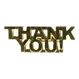 P-0126 Thank You! Pin
