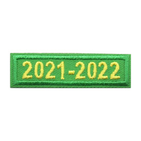 2021 - 2022 Green Year Bar Patch