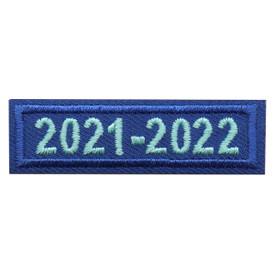 2021 - 2022 Blue Year Bar Patch